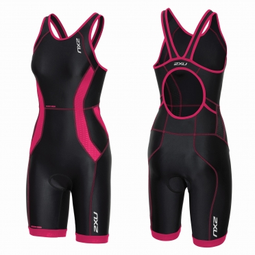 2XU Perform tri suit y-back zwart/roze dames
