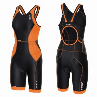 2XU Perform tri suit y-back zwart/oranje dames