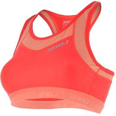 2XU X-VENT Tri Crop oranje roze dames