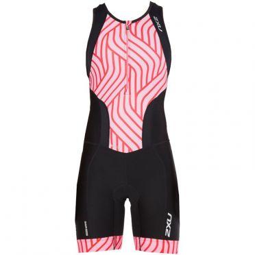 2XU Perform mouwloos trisuit zwart/roze dames 2018