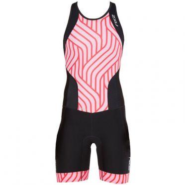 2XU Perform Y-back trisuit zwart/roze dames