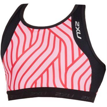 2XU Perform tri crop zwart/roze dames