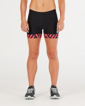 "2XU Perform 4.5"" tri shorts zwart/rood dames"