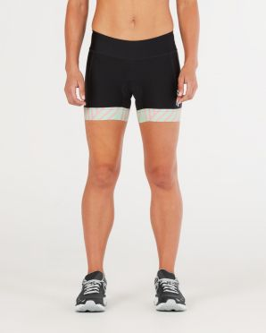 "2XU Perform 4.5"" tri shorts zwart/mint dames"
