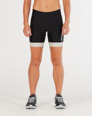 "2XU Perform 7"" tri shorts zwart/mint dames"
