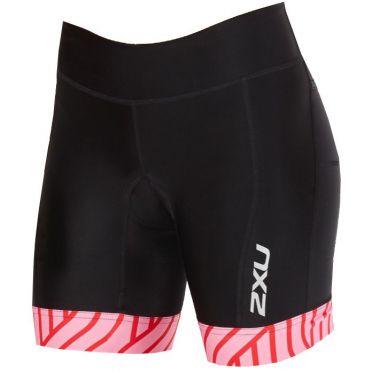 "2XU Perform 7"" tri shorts zwart/roze dames"