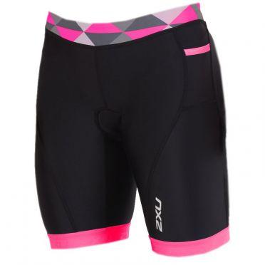 """2XU Active 7"""" tri shorts zwart/roze dames"""