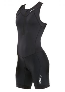 2XU Active mouwloos trisuit zwart dames