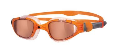 Zoggs Aqua flex Titanium oranje lens zwembril oranje
