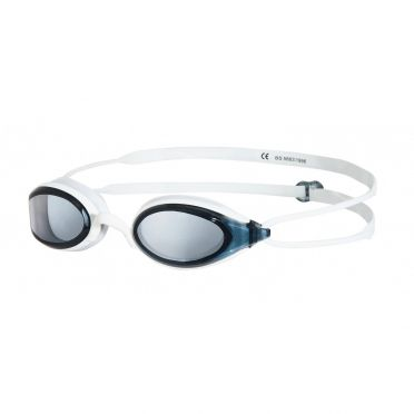Zoggs Fusion Air zwembril wit - donkere lens