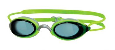 Zoggs Fusion air donkere lens zwembril groen