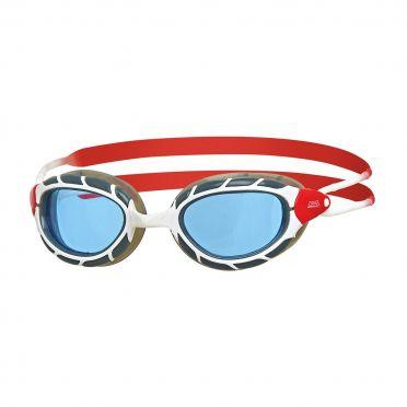 Zoggs Predator blauwe lens zwembril wit/rood