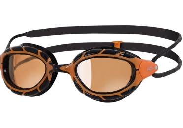 Zoggs Predator Polarized ultra zwembril zwart oranje