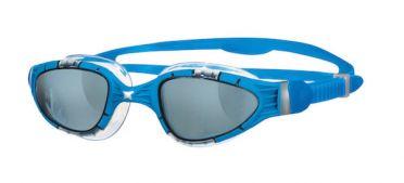 Zoggs Aqua flex donkere lens zwembril blauw