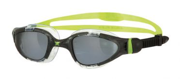 Zoggs Aqua flex Titanium donkere lens zwembril zwart/groen