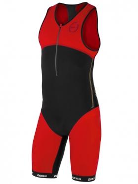 Zone3 Aeroforce nano tri suit zwart/rood heren