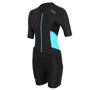 Zone3 Activate trisuit korte mouw zwart/blauw dames