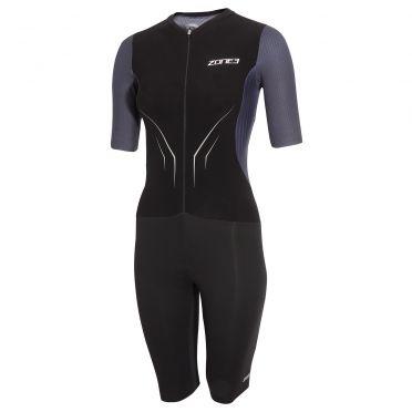 Zone3 Aeroforce X korte mouw trisuit zwart/grijs dames