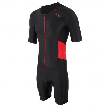 Zone3 Activate trisuit korte mouw zwart/rood heren
