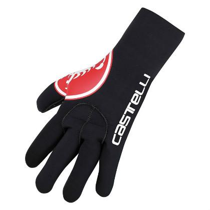 Castelli Diluvio glove zwart/rood heren 14536-123  CA14536-123-01