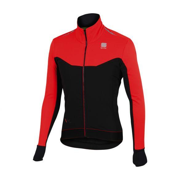Sportful R&D light fietsjack zwart/rood heren  1101690-251