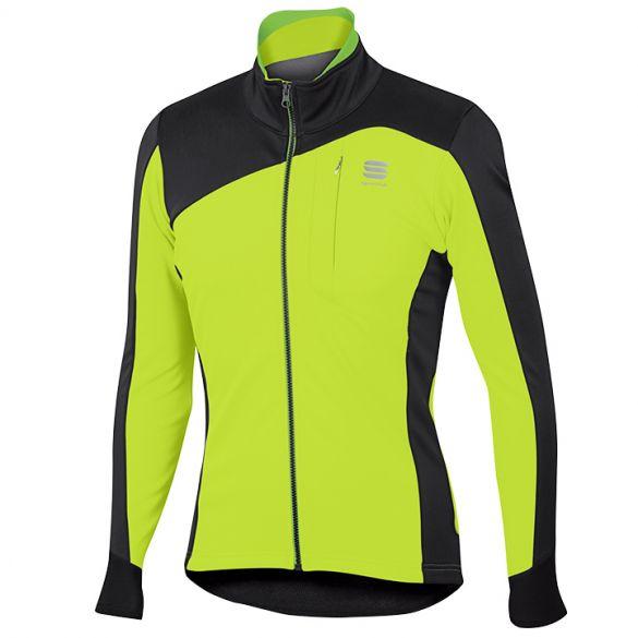 Sportful Edge softshell fietsjack fluo geel/zwart heren  1101698-091