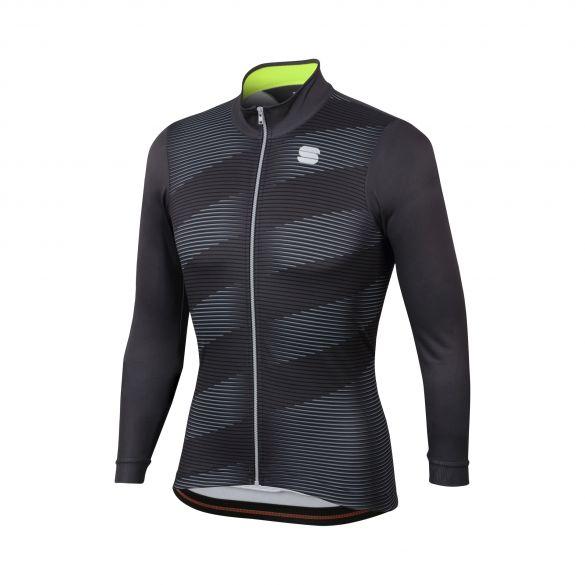 Sportful Moire thermal fietsshirt lange mouw antraciet heren  1101947-168