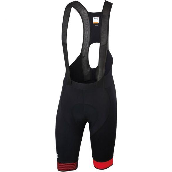 Sportful Bodyfit pro 2.0 bibshort zwart/rood heren  1101993-567