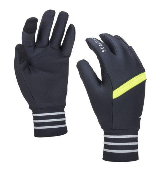 SealSkinz solo reflective handschoenen zwart/neon geel  12100087-0071