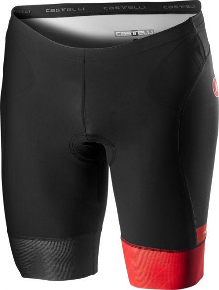 Castelli Free tri short zwart/rood heren  18107-023