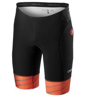 Castelli Free tri short zwart/oranje heren  18107-034