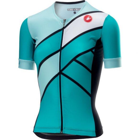 Castelli Free speed W race jersey tri top groen/blauw dames  18116-044