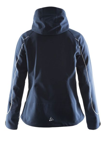 Winterjas Blauw Dames.Craft Cortina Soft Shell Winterjas Blauw Navy Dames Kopen Bestel
