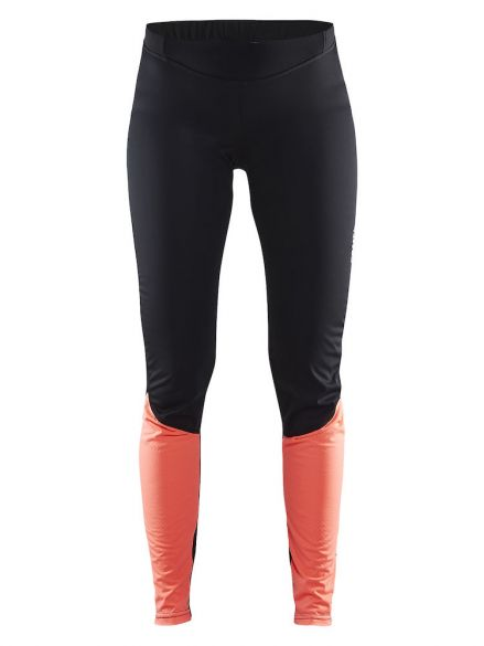 Craft Velo thermal wind tight zwart/roze dames  1904435-9801