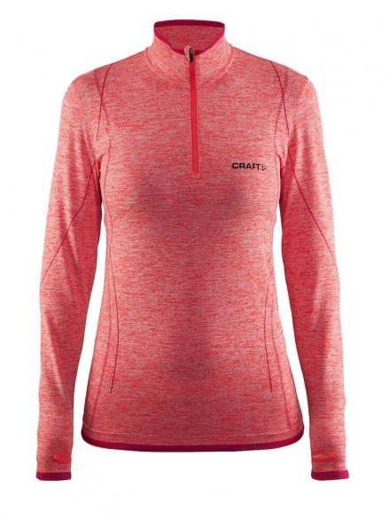f17ef0968b7c71 Craft Active Comfort Zip lange mouw ondershirt rood/crush dames 1904479-1410