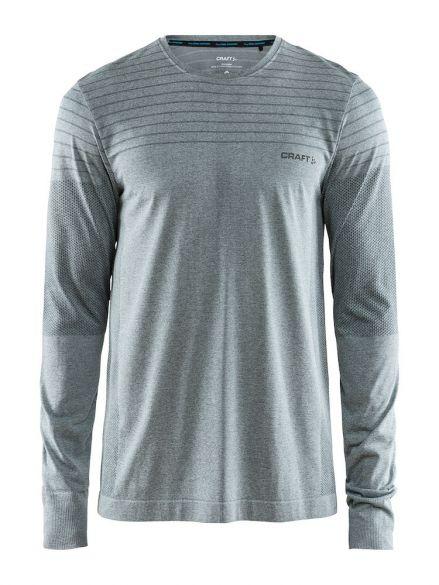 Craft cool comfort lange mouw ondershirt grijs/melange heren  1904917-1615