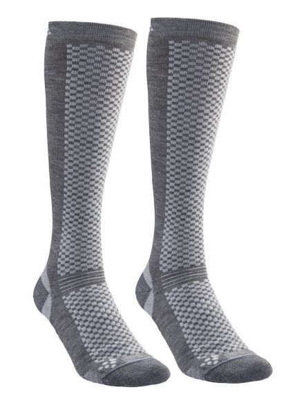 Craft warm hoge sokken gray 2-pack  1905545-985920