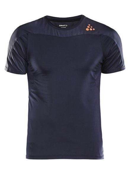Craft Shade korte mouw hardloopshirt gravel/blauw heren  1905844-947575