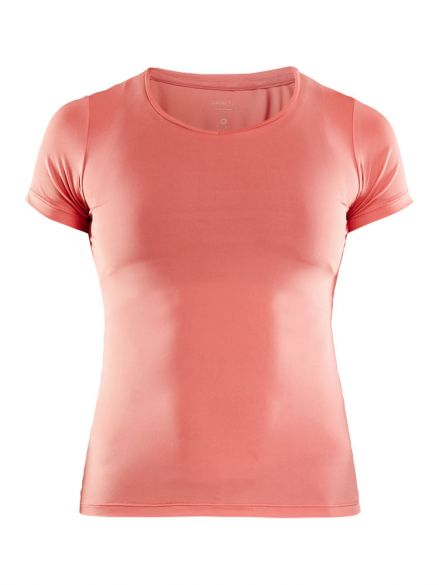 Craft Essential V-neck korte mouw ondershirt roze dames  1906048-702000