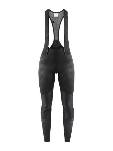 Craft Ideal wind bibtight fietsbroek zwart/strepen dames  1906548-999999