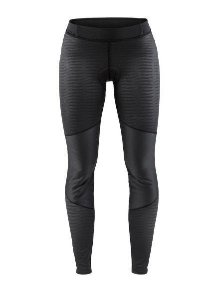 Craft Ideal wind tight fietsbroek zwart/strepen dames  1906549-999999