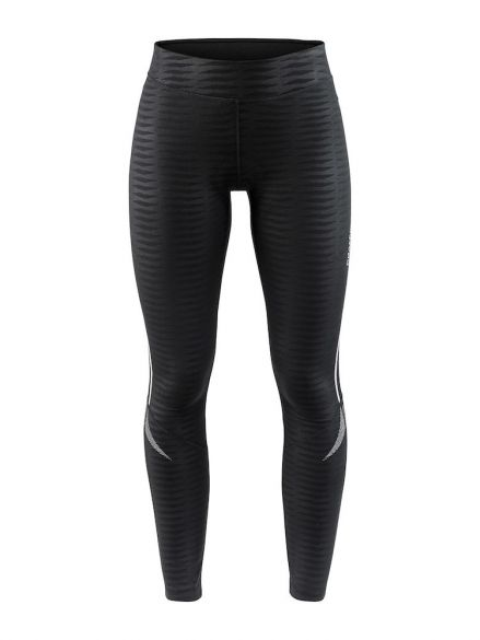 Craft Ideal Thermal tight fietsbroek zwart/strepen dames  1906551-999999