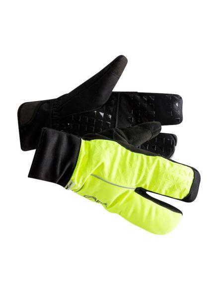 Craft Siberian 2.0 Split finger fietshandschoenen zwart/geel unisex  1906571-851999