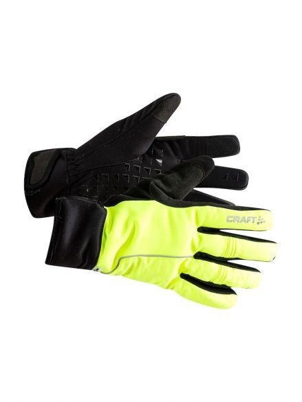 Craft Siberian 2.0 fietshandschoenen geel/zwart unisex  1906572-851999