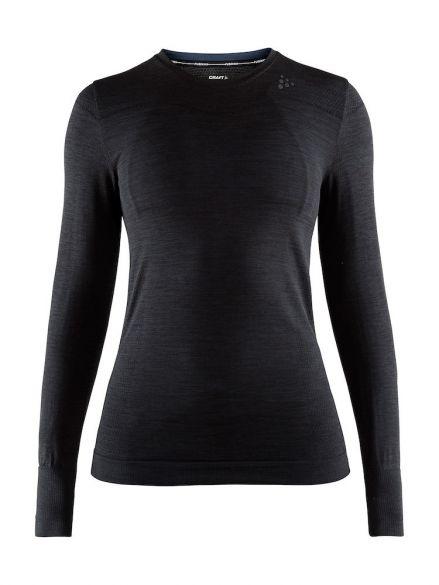 Craft Fuseknit comfort lange mouw ondershirt zwart dames  1906592-B99000