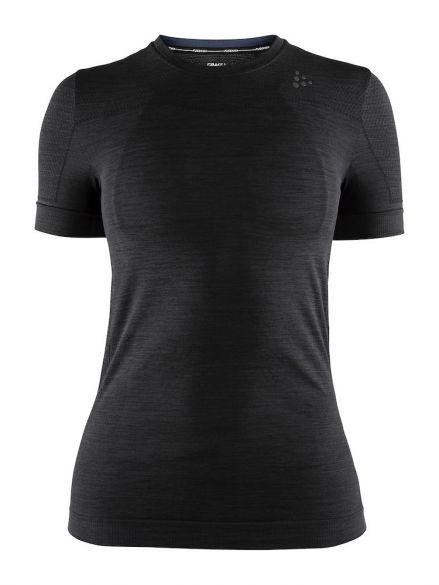 8183cfecb7e Craft Fuseknit comfort korte mouw ondershirt zwart dames