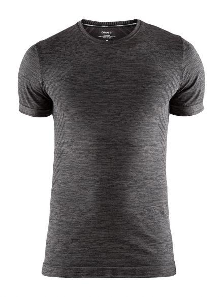 Craft Fuseknit comfort korte mouw ondershirt donkergrijs heren  1906601-998000