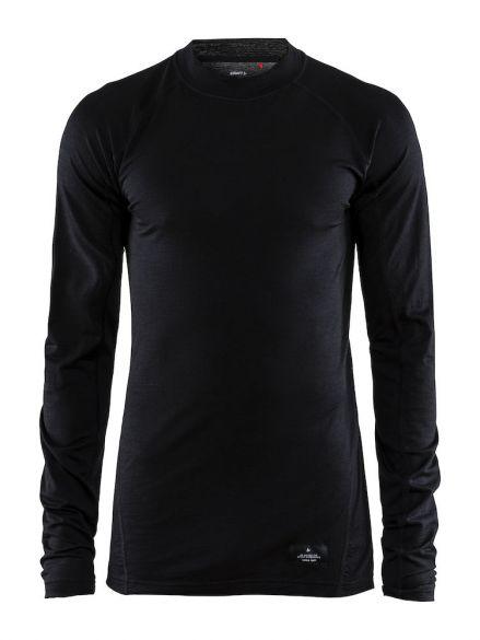 Craft Warm merino lange mouw ondershirt zwart heren  1906618-999000
