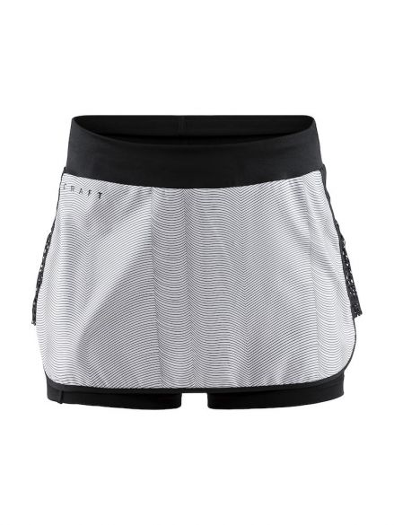 Craft Charge skirt sportrok zwart/grijs dames  1907045-139900