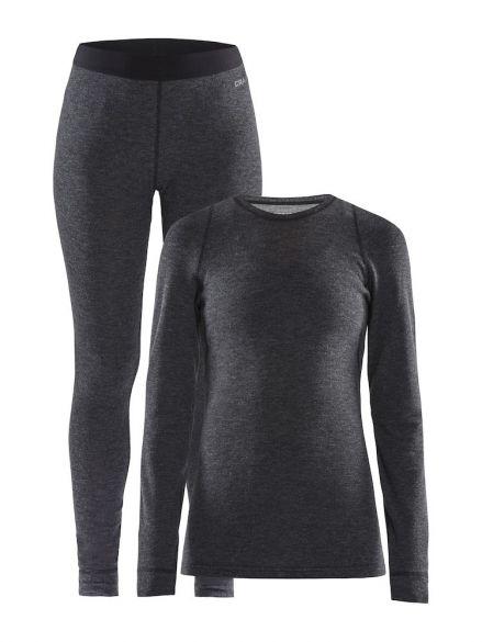 Craft Merino 180 onderkleding voordeelset zwart dames  1907887-998000